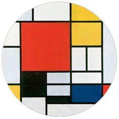 Przycisk do papieru Mondrian 8×3,5cm