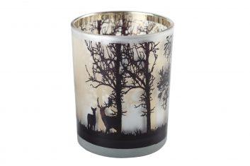 Świecznik na tealighty Xmas Deer in forest bbhome