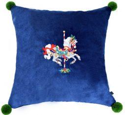 Poduszka Carousel Pony Blue BBHome 45x45cm