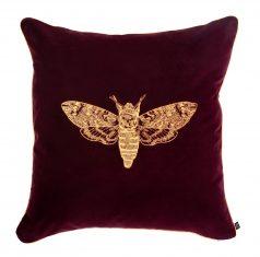 Poduszka dekoracyjna Moth Claret Insectarium N°6 Maja Laptos Studio 45x45cm