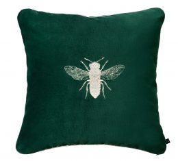 Poduszka Bee Green Silver Insectarium N°4 Maja Laptos Studio 45x45cm