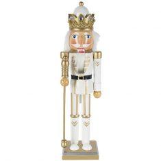 Figurka Nutcracker King White BBHome 38cm