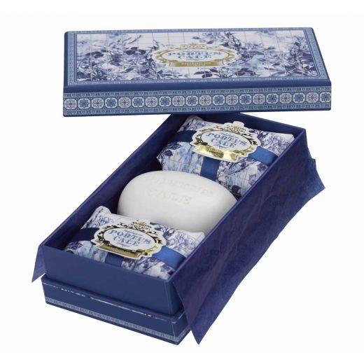 Zestaw mydełek Portus Cale Gold Blue Castelbel bbhome