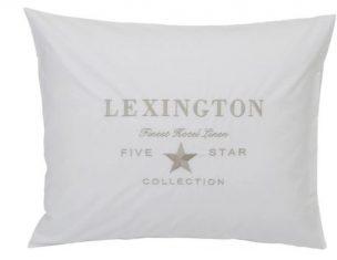 Poszewka na poduszkęEmbroidery White/Lt Beige Percale Hotel Lexington