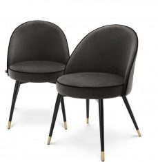 Komplet krzeseł Roche Cooper Dark Grey Eichholtz 2szt.