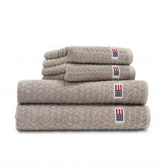 Ręcznik kąpielowy Dark Grey Cotton/Tencel Structured Terry Lexington