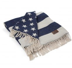 Pled White/Navy Flag Throw Lexington 130x170cm