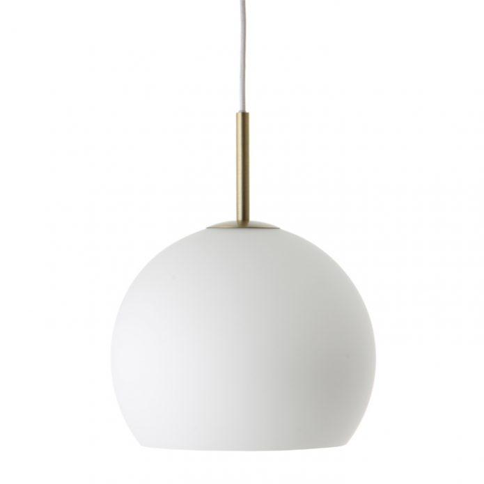 Lampa wisząca Ball White Glass Frandsen bbhome