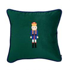 Poduszka świąteczna Nutcracker Green Maja Laptos Studio 45x45cm