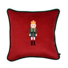 Poduszka świąteczna Nutcracker Red Maja Laptos Studio 45x45cm