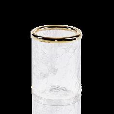 Kubek łazienkowy Crack Gold Decor Walther Ø 7x10cm