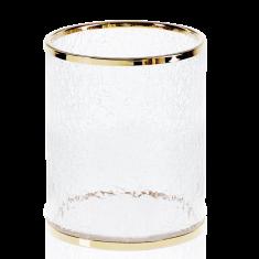 Kosz łazienkowy Crack Gold Decor Walther Ø 7x38cm
