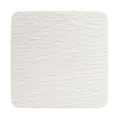 Talerz Gourmet kwadratowy Blanc Manufacture Rock Villeroy&Boch 32,5×32,5×1,5 cm
