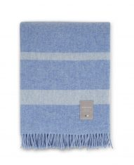 Koc Wool Throw Blue/White Lexington bbhome