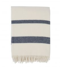 Koc Wool Throw White/Blue Lexington bbhome