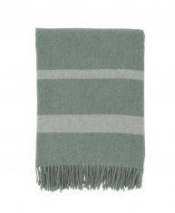 Koc Wool Throw Green/White Lexington bbhome