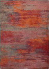 Czerwono szary dywan nowoczesny - HIBISCUS RED 9116 Louis De Poortere