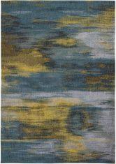 Wielokolorowy dywan nowoczesny - NYMPHEA BLUE 9119 Louis De Poortere