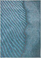Nowoczesny Niebieski Dywan - BLUE NILE 9132 Louis De Poortere