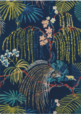 Niebieski Dywan w Kwiaty – RAIN FOREST TROPICAL NIGHT 050708 Sanderson