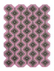 Nowoczesny Różowy Dywan o nieregularnym kształcie – IVIV PINK 160702 Ted Baker