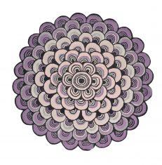 Nowoczesny Okrągły Dywan o abstrakcyjnym wzorze – MOSQUERADE ROUND PINK 160002 Ted Baker