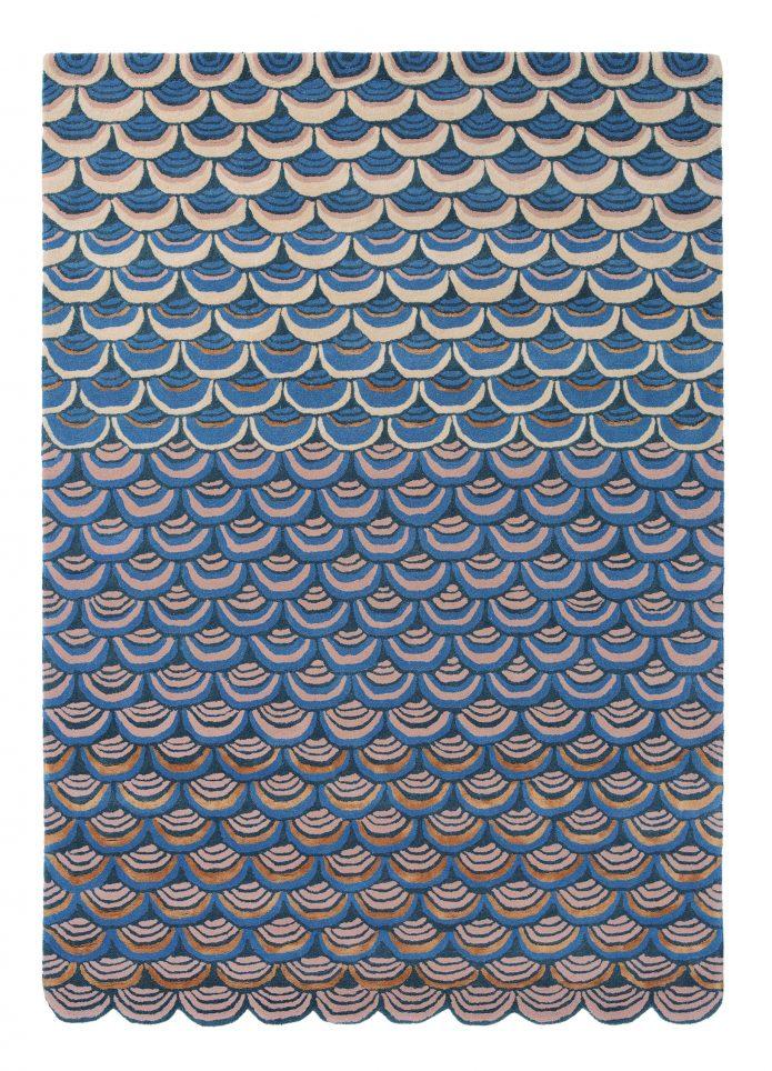 Nowoczesny Dywan o abstrakcyjnym wzorze - MOSQUERADE BLUE 160008 Ted Baker