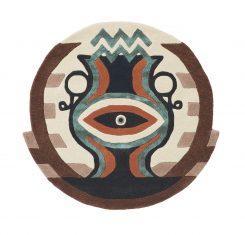 Nowoczesny Okrągły Dywan w Znak Zodiaku Wodnik – ZODIAC AQUARIUS 162105 Ted Baker