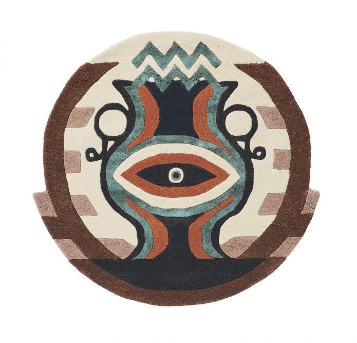 Nowoczesny Okrągły Dywan w Znak Zodiaku Wodnik - ZODIAC AQUARIUS 162105 Ted Baker