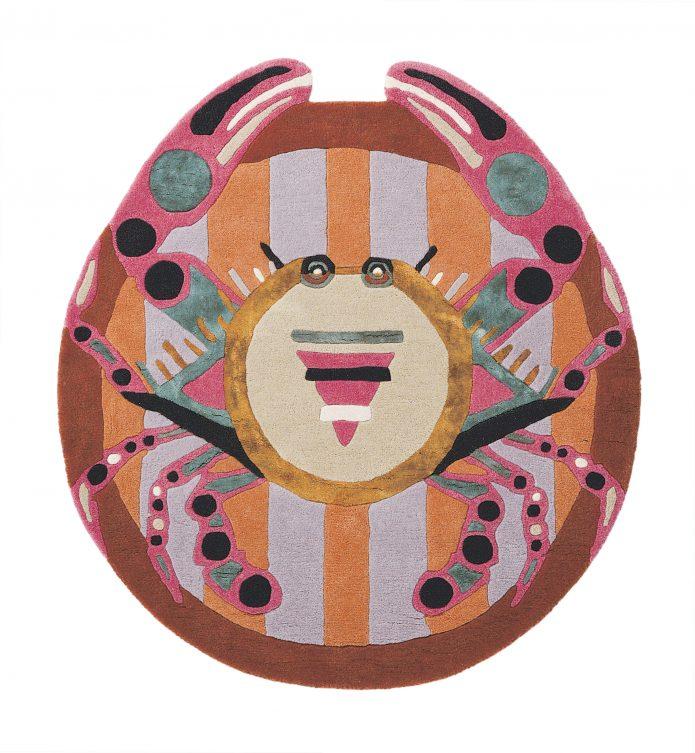 Nowoczesny Okrągły Dywan w Znak Zodiaku Rak - ZODIAC CANCER 161405 Ted Baker