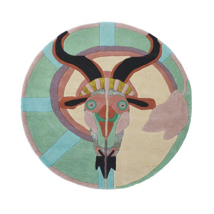 Nowoczesny Okrągły Dywan w Znak Zodiaku Koziorożec - ZODIAC CAPRICORN 162005 Ted Baker