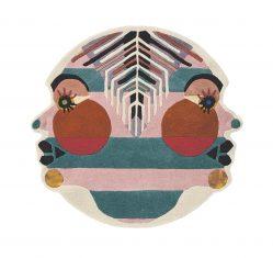 Nowoczesny Okrągły Dywan w Znak Zodiaku Bliźnięta – ZODIAC GEMINI 161305 Ted Baker