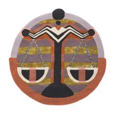 Nowoczesny Okrągły Dywan w Znak Zodiaku Waga – ZODIAC LIBRA 161705 Ted Baker