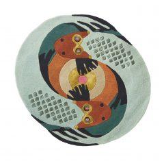 Nowoczesny Okrągły Dywan w Znak Zodiaku Ryby – ZODIAC PISCES 162205 Ted Baker