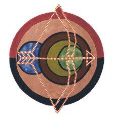 Nowoczesny Okrągły Dywan w Znak Zodiaku Strzelec – ZODIAC SAGITTARIUS 161905 Ted Baker