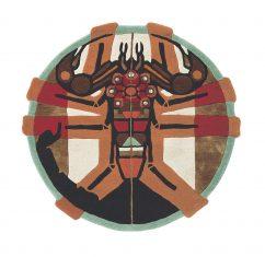 Nowoczesny Okrągły Dywan w Znak Zodiaku Skorpion – ZODIAC SCORPIO 161805 Ted Baker