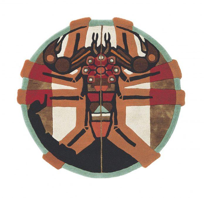 Nowoczesny Okrągły Dywan w Znak Zodiaku Skorpion - ZODIAC SCORPIO 161805 Ted Baker