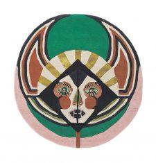 Nowoczesny Okrągły Dywan w Znak Zodiaku Panna – ZODIAC VIRGO 161605 Ted Baker