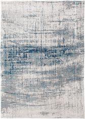 Biało Niebieski Dywan Nowoczesny - BRONX AZURITE 8421 Louis De Poortere