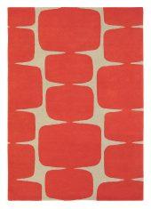 Czerwony Dywan Geometryczny - LOHKO POPPY 25800 - rozmiar 140x200 cm Scion Living