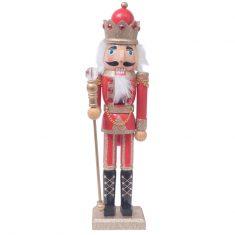 Figurka Nutcracker King Golden Red BBHome 38cm