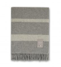 Koc Gray/White Wool Throw Lexington bbhome