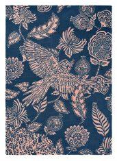 Niebieski Dywan w Kwiaty – LORAN NAVY 56308 – rozmiar 140×200 cm Ted Baker
