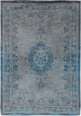 Niebiesko Szary Dywan Klasyczny - GREY TURQUOISE 8255 Louis De Poortere