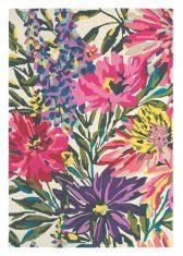 Różowo Fioletowy Dywan w Kwiaty – FLOREALE FUSCHIA 44905 Harlequin