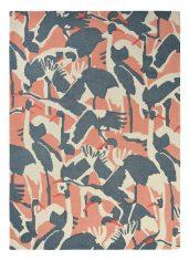 Różowo Szary Dywan w Ptaki – CRANES PINK 57002 – rozmiar 140×200 cm Ted Baker