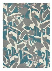 Zielono Szary Dywan w Ptaki - CRANES PETROL 57008 Ted Baker