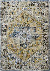 Żółto Niebieski Dywan Klasyczny – AMIR GOLD 8704 Louis De Poortere