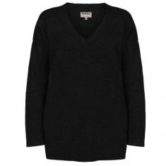 Sweter Black z dekoltem w serek Minou Cashmere bbhome