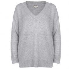 Sweter Grey z dekoltem w serek Minou Cashmere bbhome